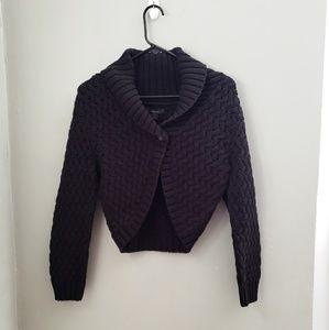 Express I New black cropped large cardigan sweater